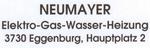 Neumayer, Gas - Wasser - Heizung - Elektro, Eggenburg