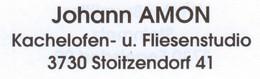 Amon Johann, Kachelofen- u. Fliesenstudio, Stoitzendorf